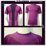 Camisas 2017 apertadas Bodybuilding da compressão Sleeveless T da ginástica da aptidão