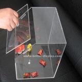 Het duidelijke AcrylGeval van het Suikergoed met Dozen van het Suikergoed van het Deksel de Lege (btr-K4010)