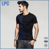 Le T-shirt Short-Sleeved des hommes de coton d'été
