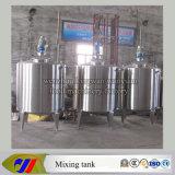 El tanque de mezcla cerrado de la calefacción de vapor con la boca