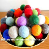 Esferas de lãs da decoração do Natal, esferas de feltro de lãs de 100%