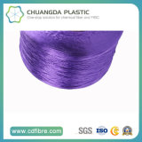 Fio 100% roxo de matéria têxtil 900d FDY PP para a torção cabografada