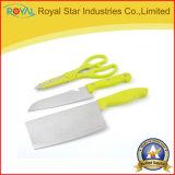 3 нож шеф-повара Knife+Scissors+Fruit комплекта инструментов кухни PCS