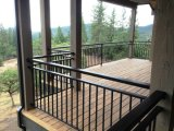 Высокая эффективность загородки балкона Anti-Corrosion, антиржавейного популярного порошка Coated напольной