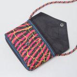 24 sobres nacionales de la lona del estilo de los estilos empaquetan los mini bolsos de hombro (M008-2)