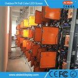 Hoge Prestaties die RGB P4 Openlucht Volledige LEIDENE van de Kleur Vertoning adverteren