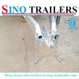 Usar extensamente hidráulico derrubando Semi o reboque feito em China