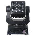 コンパクトな据え付け品4X15Wの小型ズームレンズLED移動ヘッドライト