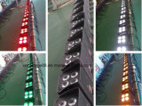 4X18W LED 건전지에 의하여 운영하는 원격 제어 빛 DMX 무선 LED 동위 빛