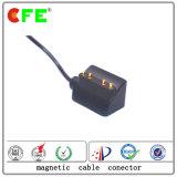 4pin Werableの製品のためのケーブルが付いている黒い磁気電源コネクタ