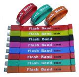 Les cartes mémoire Memory Stick du bracelet USB de silicones de cadeau promotionnelles les plus populaires