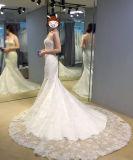 D'avanguardia vedere attraverso il vestito da cerimonia nuziale della sirena con i Appliques