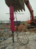 Divisor hidráulico da rocha da máquina escavadora grande