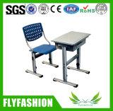 Solos escritorio de la sala de clase y muebles de escuela ajustables de la silla