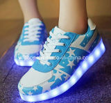 Rechargeable Light Up Chaussure de course à pied LED Sneaker Flashing Men Chaussures lumineuses