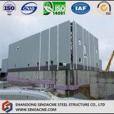 Entrepôt entièrement couvert de structure métallique avec la cloche d'écran