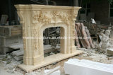 Bege Sculpture Marble Fireplace Surround Mantel (SY-MF037)