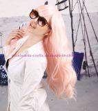 Peruca sintética resistente ao calor ondulada longa colorida do cabelo para o desempenho e o Cosplay