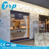 Strato perforato 2017 dell'alluminio artistico di Foshan per il comitato di parete esterna