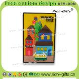 Souvenir promotionnel personnalisé Chili (RC-CL) d'aimants de réfrigérateur de silicones de cadeaux de décoration à la maison