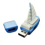 Chyi USB 2.0 Pendriveの青いヨットのボートモデル2GB 4G 8g 16g 32GB 64GB船小型USBのフラッシュ駆動機構のペン駆動機構のメモリ棒Uのディスク