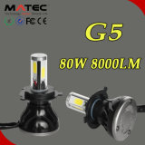 Potente brillo LED Auto Faro 4 / PCS Chips de mazorca, 80W 8000lm H1 H4 H7 H11 9,905 9,007 LED Auto Faro