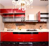 Red à haute brillance Kitchen Cabinet (constructeur)