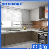 Panneaux en aluminium décoratifs de cuisine de polystyrène de revêtement anti-calorique de mur