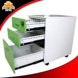 Gabinete móvil del cajón del Portable 3/pedestal móvil/gabinete de almacenaje de acero
