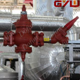 O aço de carbono flangeou regulador de pressão da entrada