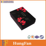 Cadeau noir de papier d'imprimerie empaquetant la boîte en carton promotionnelle
