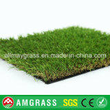 Campo verde e grama sintética para o jardim
