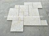 Granito arrugginito che pavimenta le mattonelle di pavimento esterne delle mattonelle decorative del granito del patio delle mattonelle di pavimento