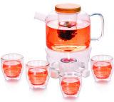 主な品質のフィルターが付いているガラス茶鍋のティーセット