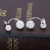 Oorringen van de Nagel van de Parel van vrouwen 925 Echte Zilveren Dubbele