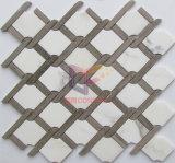 Getto di acqua che taglia mosaico di marmo Polished per la spruzzata della cucina (CFS1140)