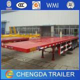2axle 3axle High Bed Semi Trailer/Flatbed Container Trailer für Sale