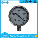 calibre de pressão cheio da cápsula do aço inoxidável 40mbar de 100mm com petróleo da glicerina