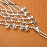 Monili della sposa del cristallo placcato dell'argento delle ragazze della barretta della catena della mano del braccialetto