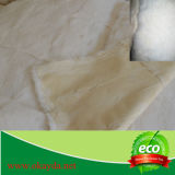 Couverture blanche de fourrure de lapin de Rex