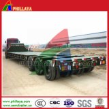 100-150tons 3lines6axles Heavy Haul Flat Low Bed Trailer