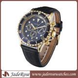 합금 악대 진짜 가죽 악대를 가진 최신 판매 합금 남자의 손목 시계
