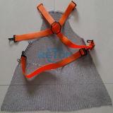 Tablier résistant coupé par boucher de tablier de courrier à chaînes de tablier d'acier inoxydable