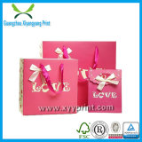 Papier de papier en plastique populaire en gros de sac de cadeau d'achats de sac de cadeau