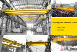 Кран двойного прогона моста 5t вешалки Qd надземный с машинным оборудованием электрической лебедки поднимаясь для мастерской