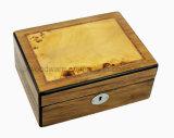 Boîte-cadeau/caisse en bois laquées à haute brillance d'emballage de bijou de bois de rose
