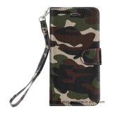 جيش عسكريّة جلد محفظة هاتف حالة متحرّك لأنّ [إيفون]
