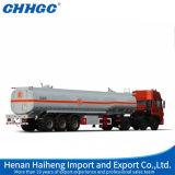 반 탄소 강철 3 차축 기름 연료 가스 탱크 트레일러