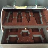 Caja cosmética de cuero de la joyería del rectángulo de las mujeres de la caja de la PU
