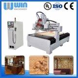 Woodworking combinado da gravura da estaca da função que cinzela a máquina de trituração do router do CNC